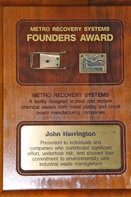 Metal Recovery Systems Founders Award
