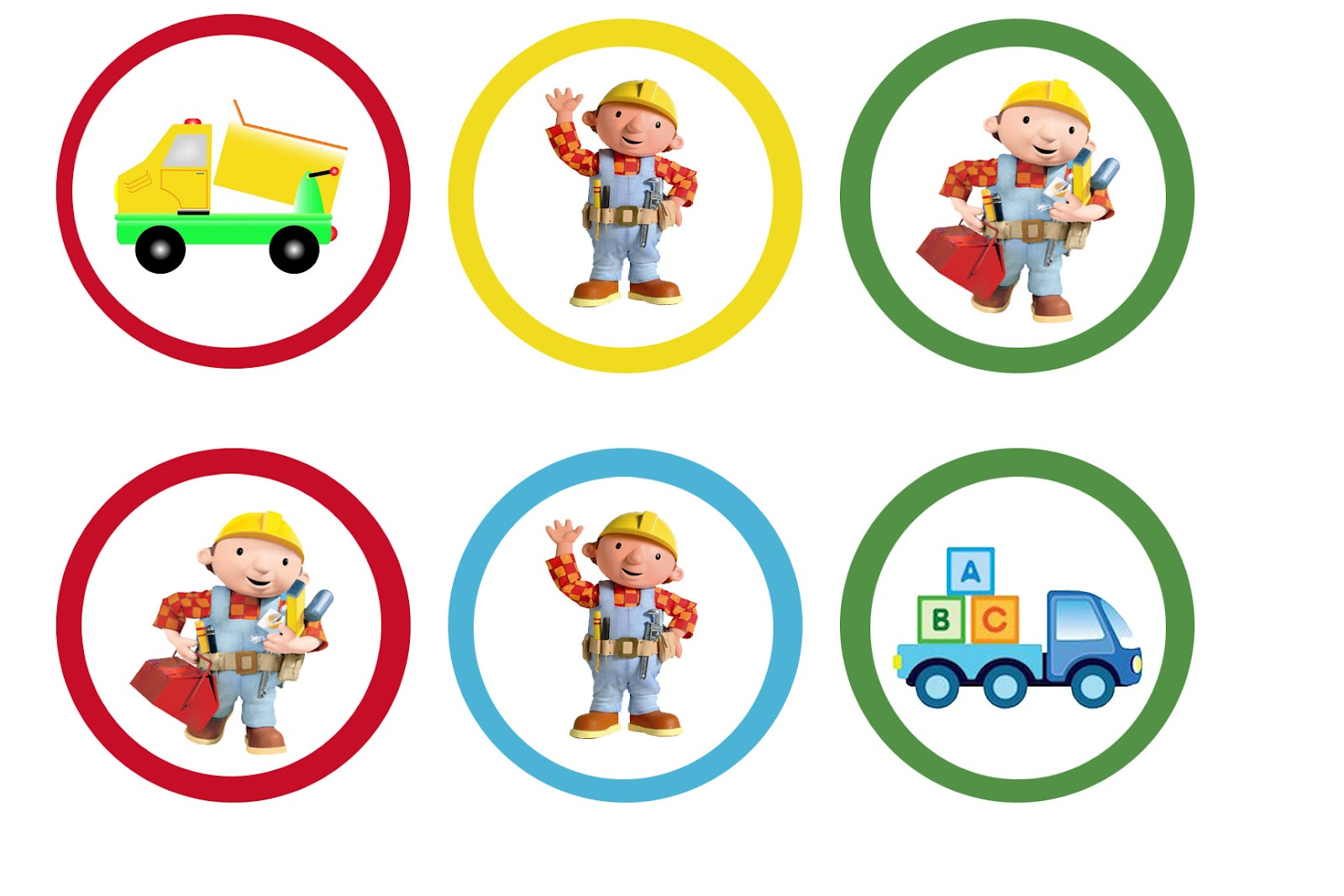 Liz Loves Lexi And Arkin Bob The Builder Cupcake Toppers