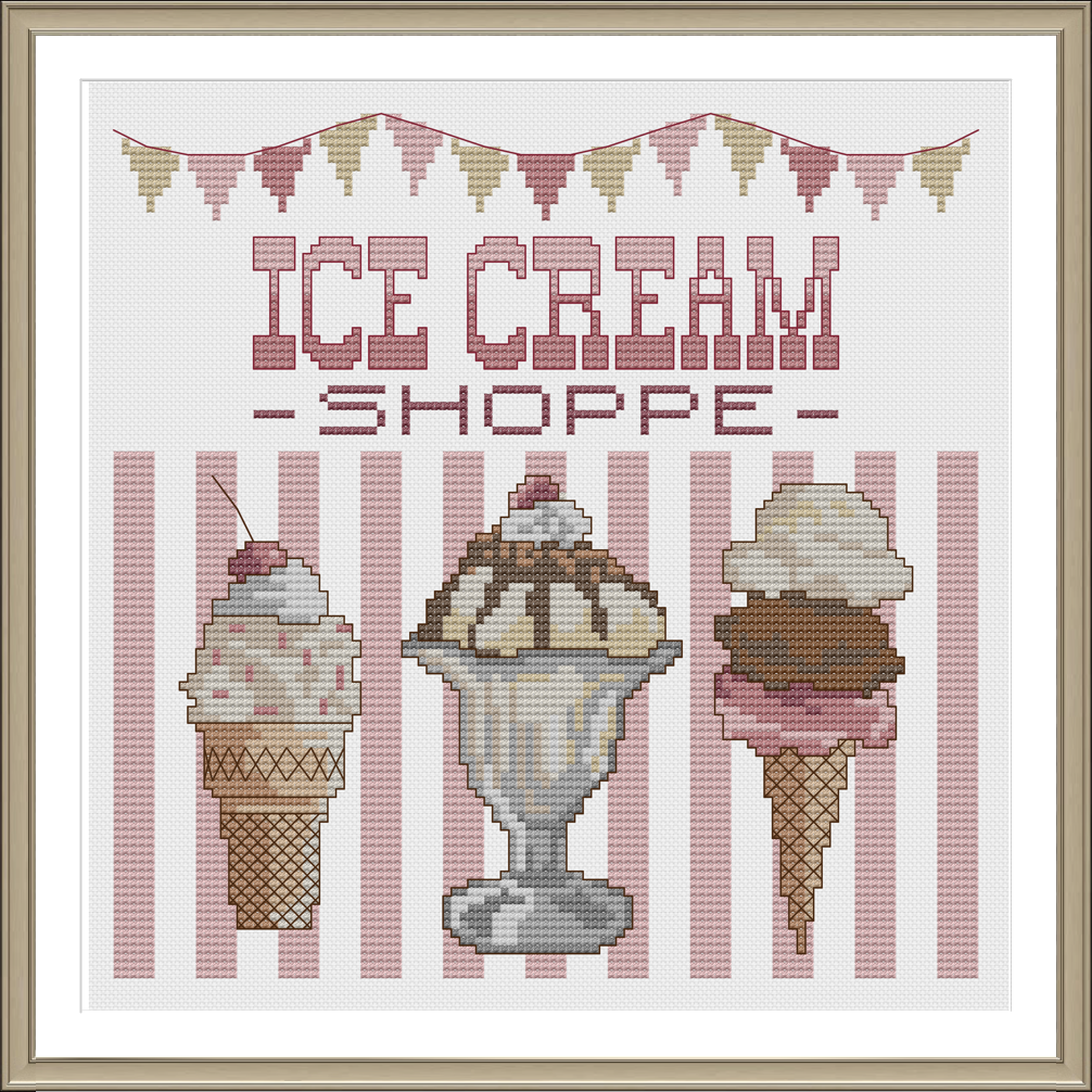 http://www.tinymodernist.com/products/ice-cream-shoppe-cross-stitch-pattern-instant-download