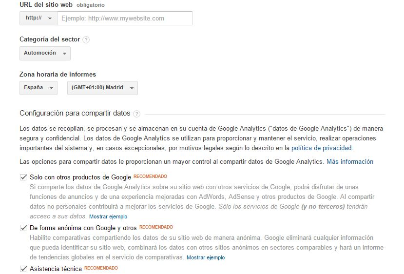 Pasos de Google Analytics 4
