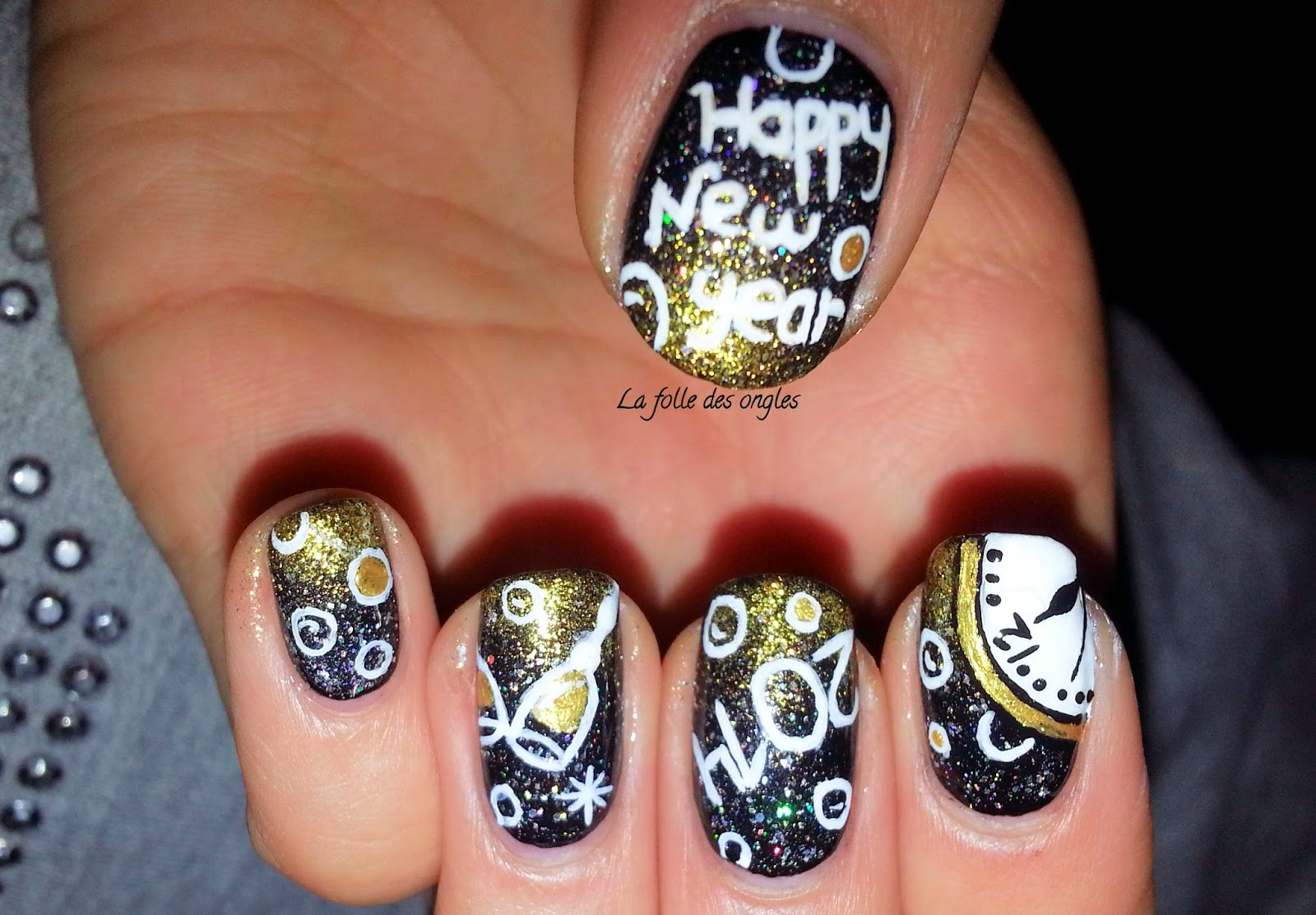 La folle des ongles nouvel an 2014 - Nail art nouvel an ...