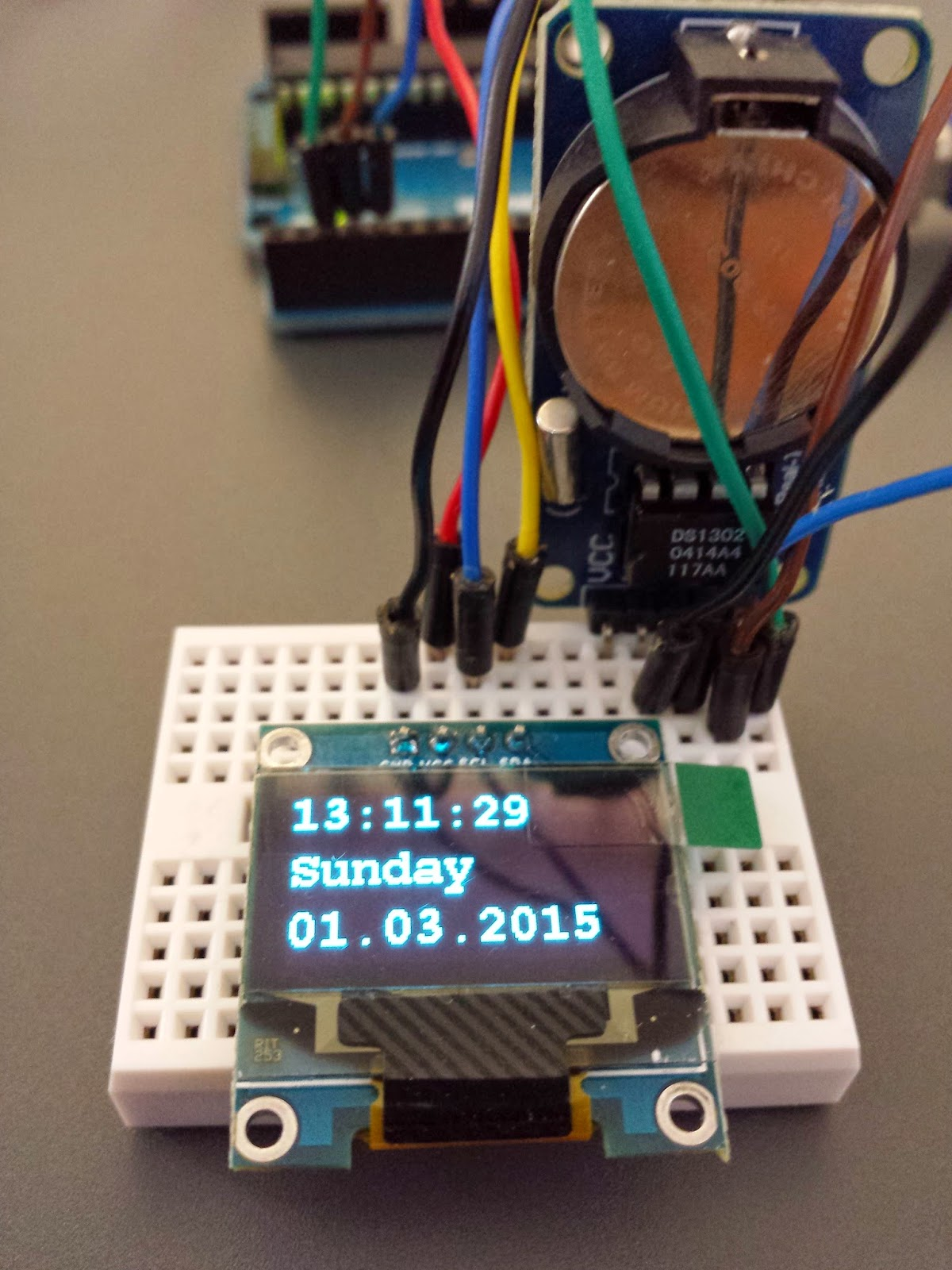 Arduino projects ds rtc display on oled