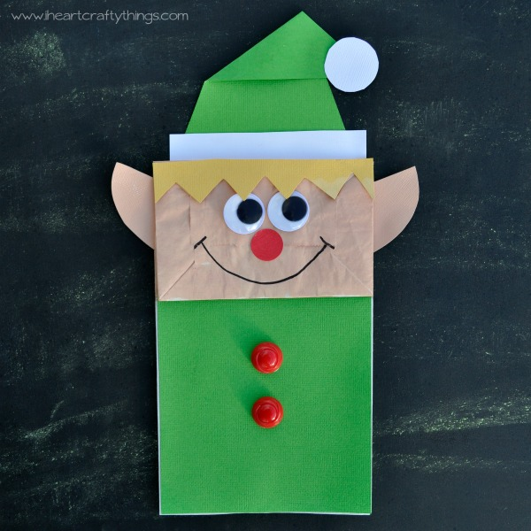 HEART CRAFTY THINGS: Paper Bag Elf Craft