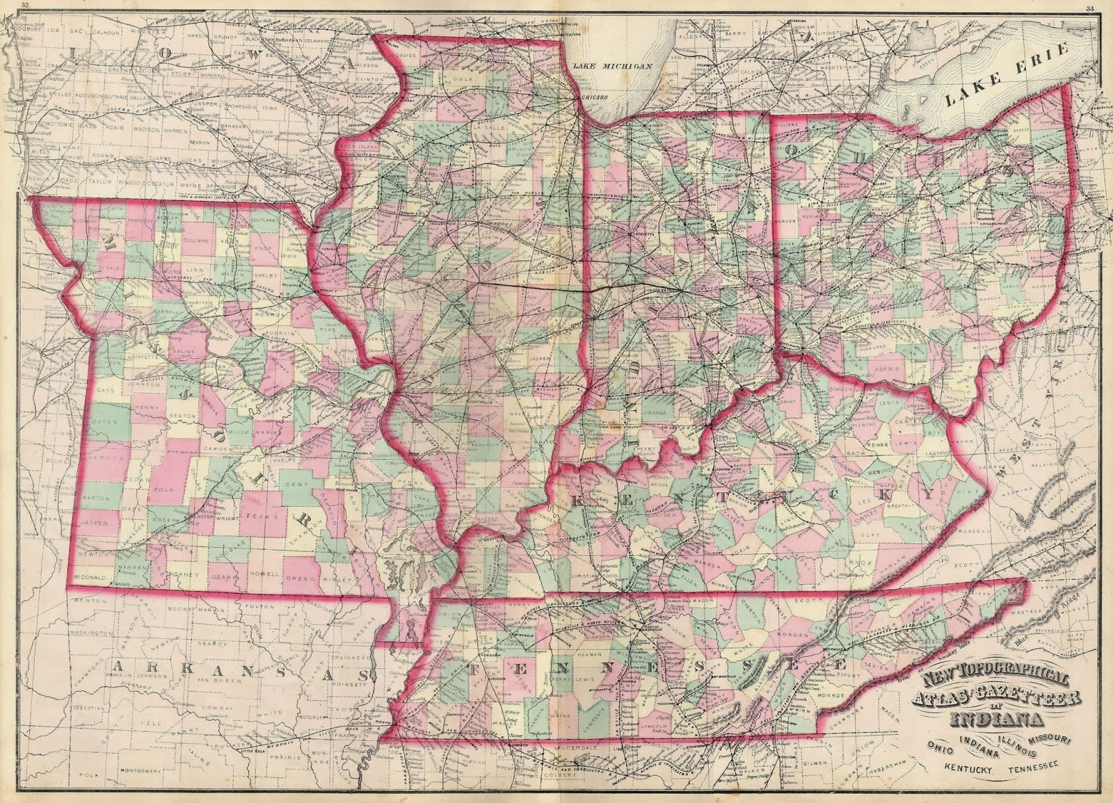 perfect map of kentucky and ohio state