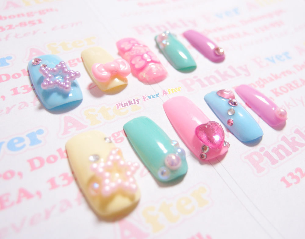 Pinkly Ever After: Magical girl style nail tips and sweet lolita ...
