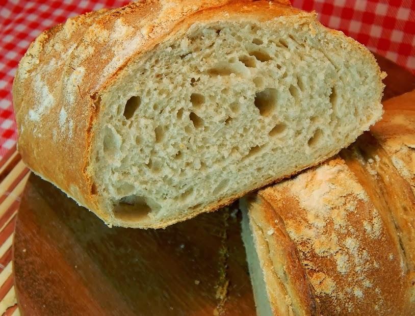 Pão Crocante com Fermento Caseiro (vegana)