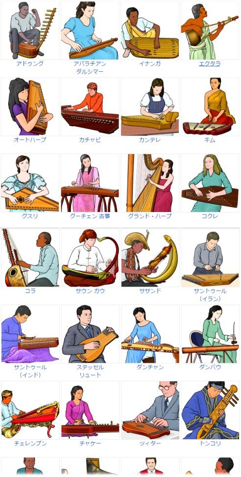 楽器のイラスト 自由に使える フリー素材