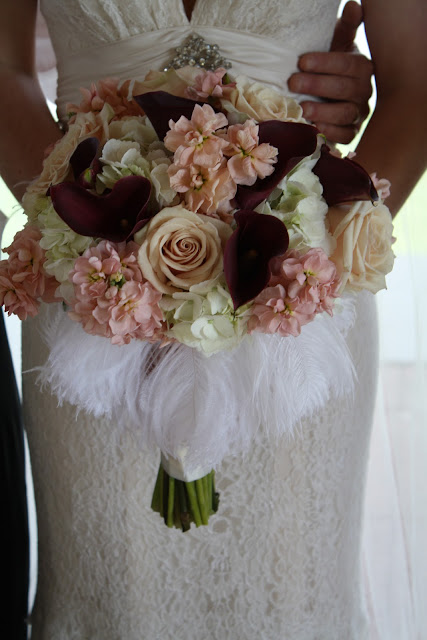 Hollywood vintage glam bridal bouquet - Splendid Stems Floral Designs