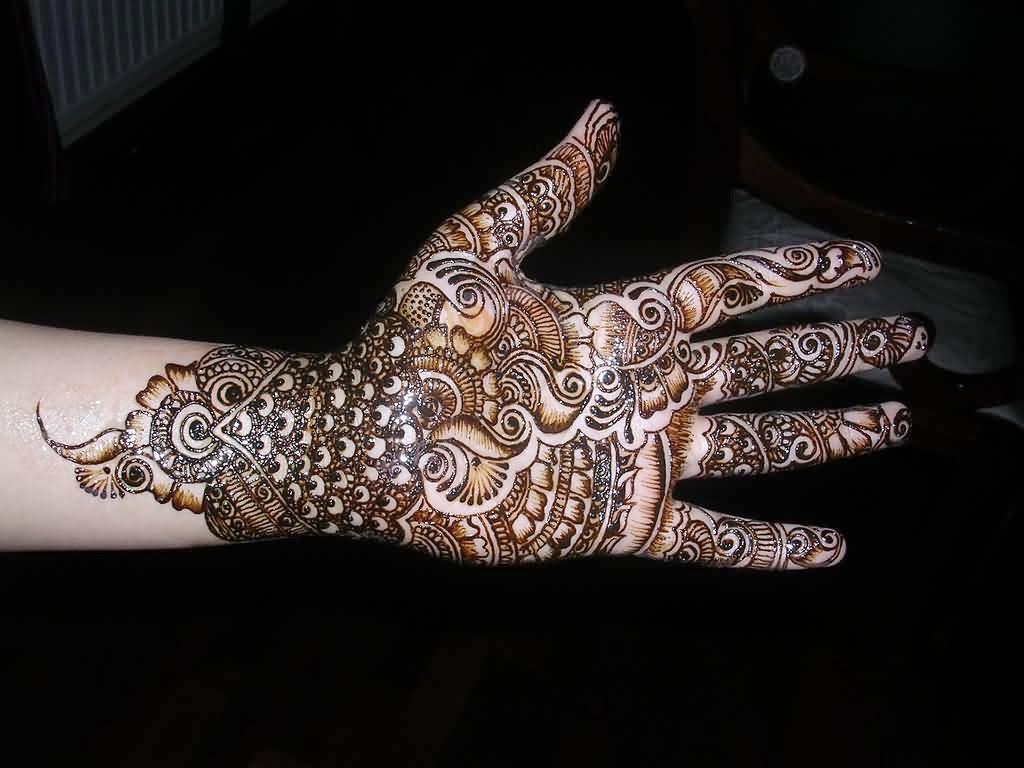 Latest Henna Mehndi : Beautiful latest simple arabic pakistani indian bridal