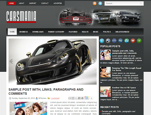 CarsMania Blogger Theme