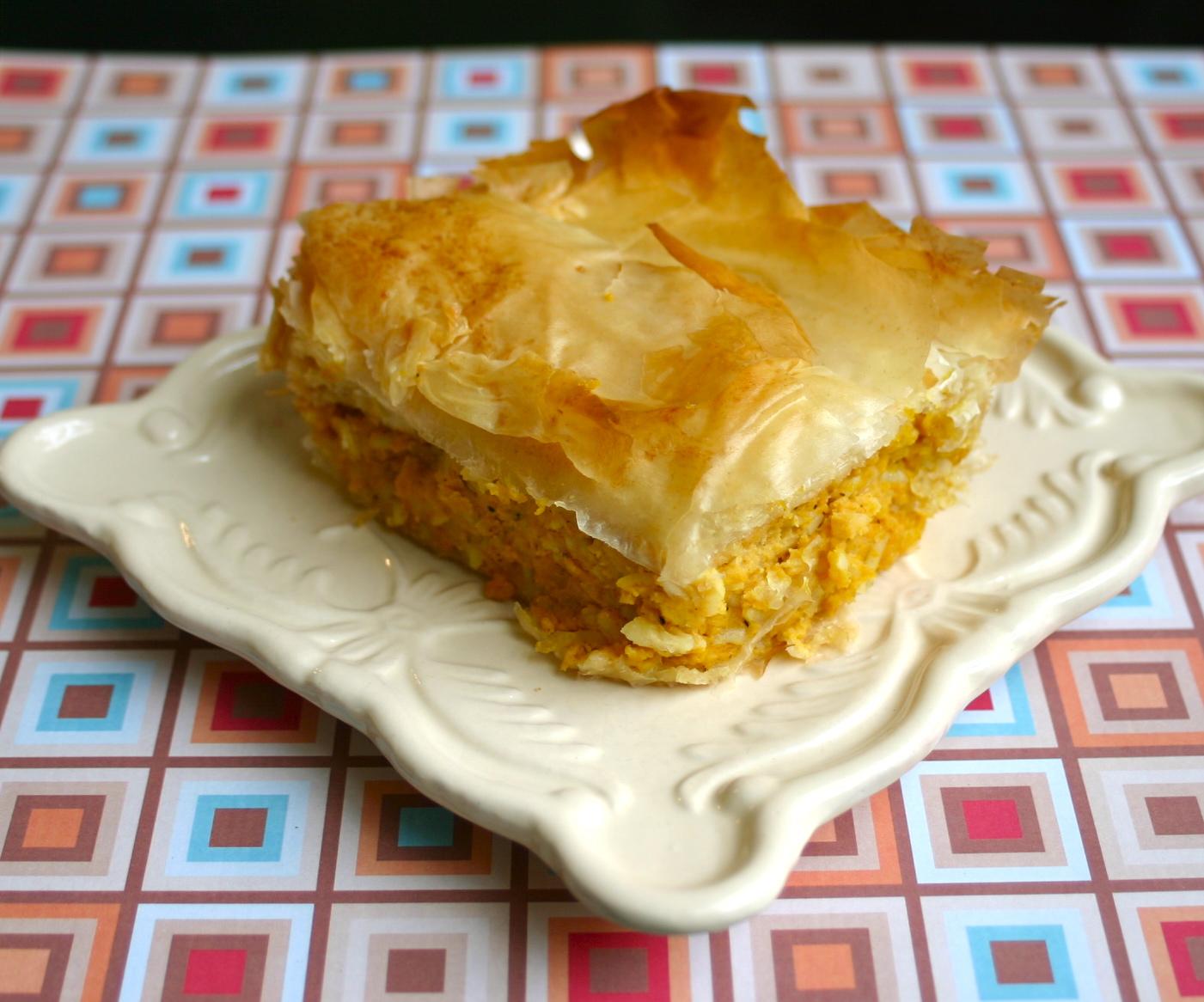 My Retro Kitchen: Kolokithopita- Savory Greek Pumpkin Pie