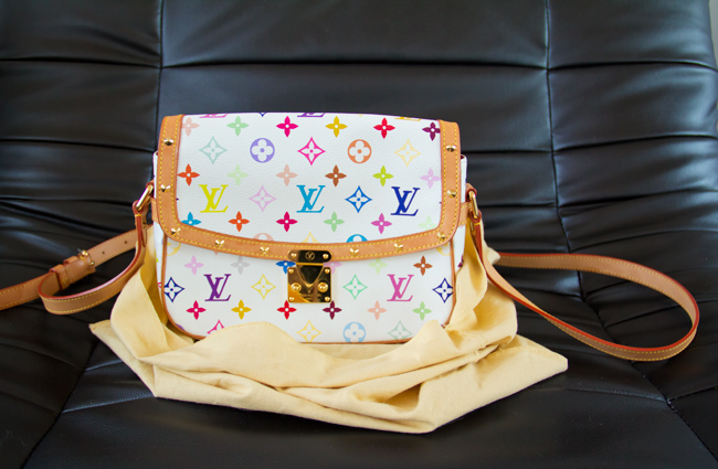 Louis Vuitton multicolour sologne, Louis Vuitton, Multicolour, Solongne, close up, Ann's fabulous finds find