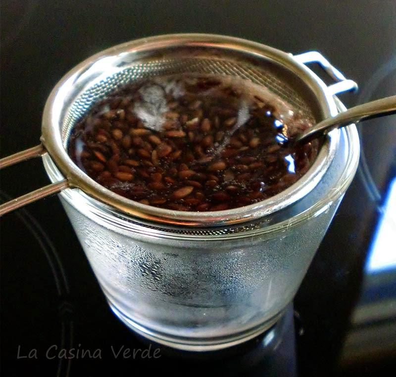 Gel semi di lino_filtrare