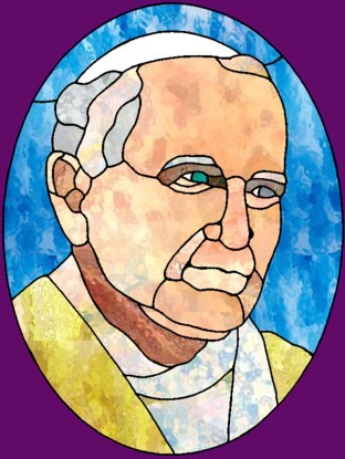 Pope john paul ii crafts lesson plans printables and more from chantals stained glass maxwellsz