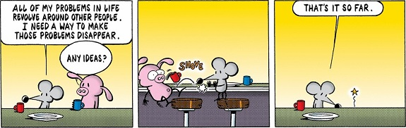 Stephan Pastis: Pearls Before Swine.