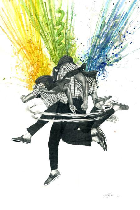 zach johnsen ilustrações cabeça explodindo ácido lisérgico