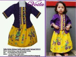 Model Baju Batik Anak Perempuan 5