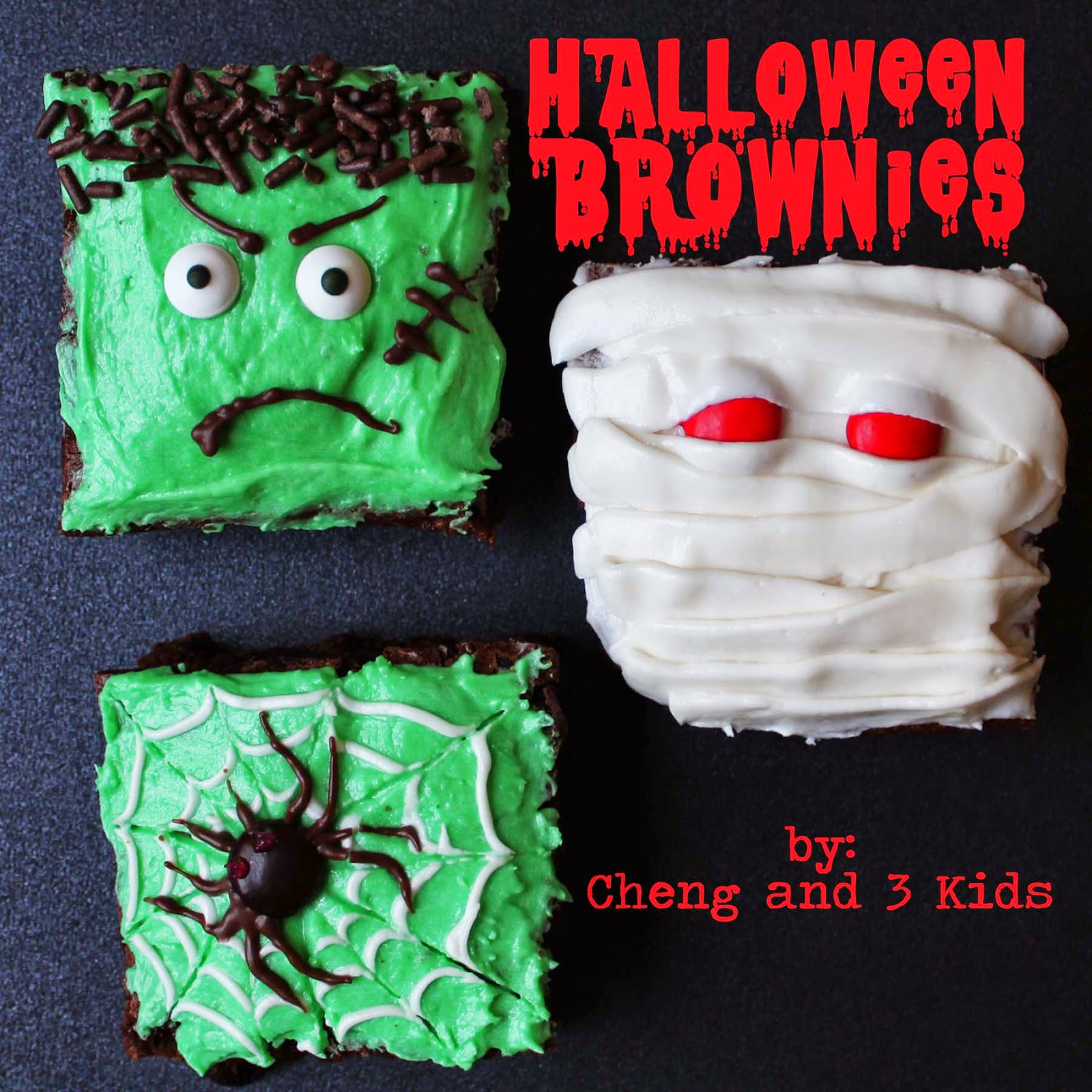 Halloween Brownies by Cheng and 3 Kids