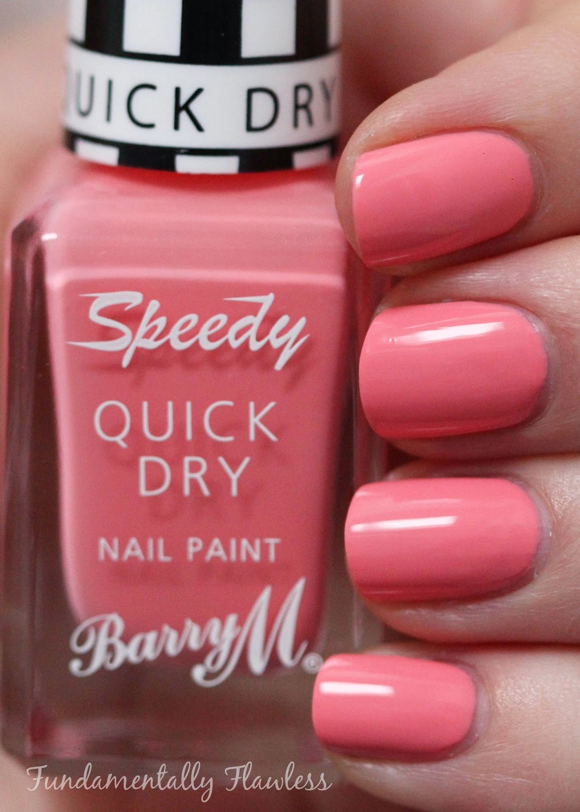 Barry M In A Heart Beat speedy dry swatch - pastel coral