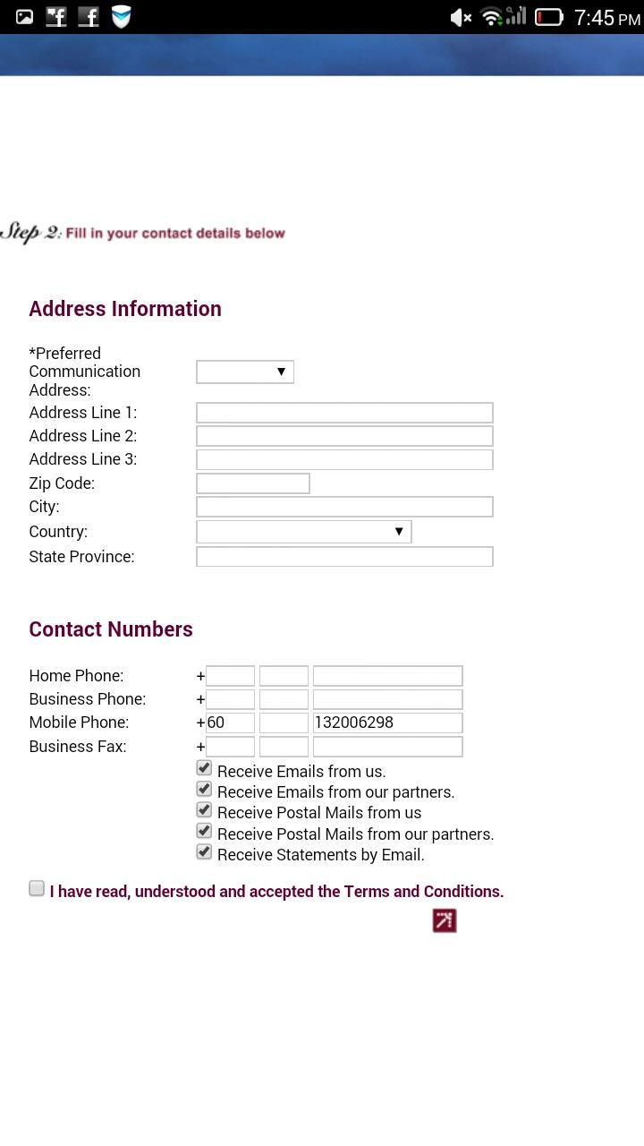 Daftar Enrich Card Melalui MH Mobile