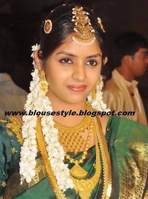 wedding saree matching jewellery