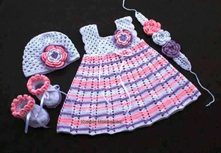 Вязание для новорожденных девочек крючок 126