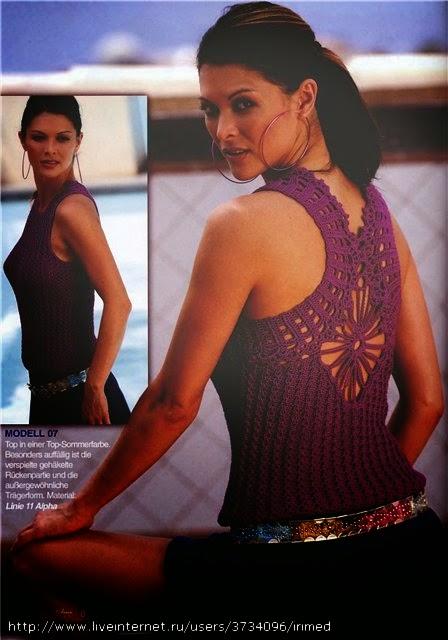 Blusa sin mangas con espalda con hermoso diseño