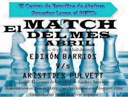 FINALIZADO MATCH DEL MES DE ABRIL