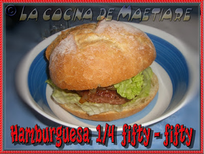Hamburguesa 1/4 fifty-fifty HAMBURGUESA+FIFTY-FIFTY