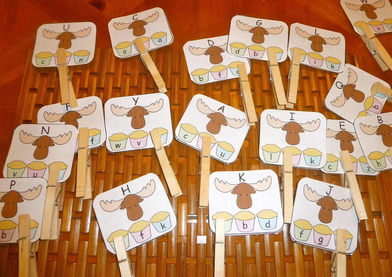 Missing letter clip cards abc review - Muffins fur kindergarten ...