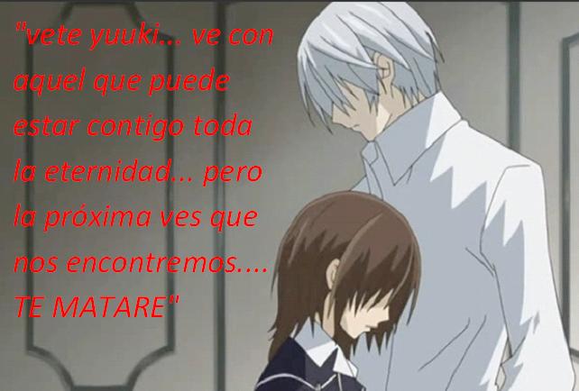 Frases con fotos del anime. Yuuki+y+zero