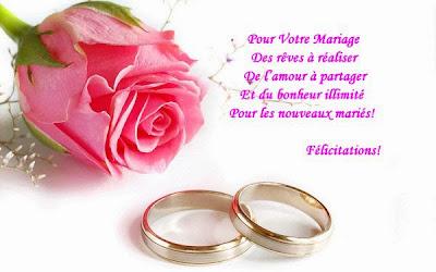 Carte félicitation mariage texte