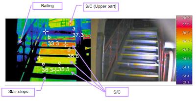 Immagine infrarossa della parte superiore del toro (suppression chamber) del reattore 2