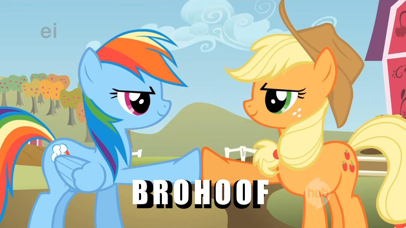 Download Wallpaper Horse Cartoon - Brohoof  HD_82591.png