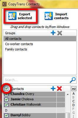 iphone contacts to pc