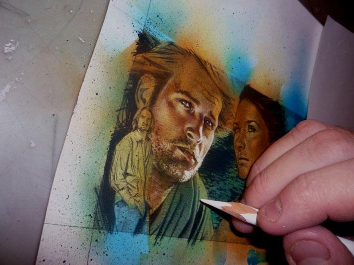 Josh Holloway, Sawyer Sketch Card © 2012 Jeff Lafferty