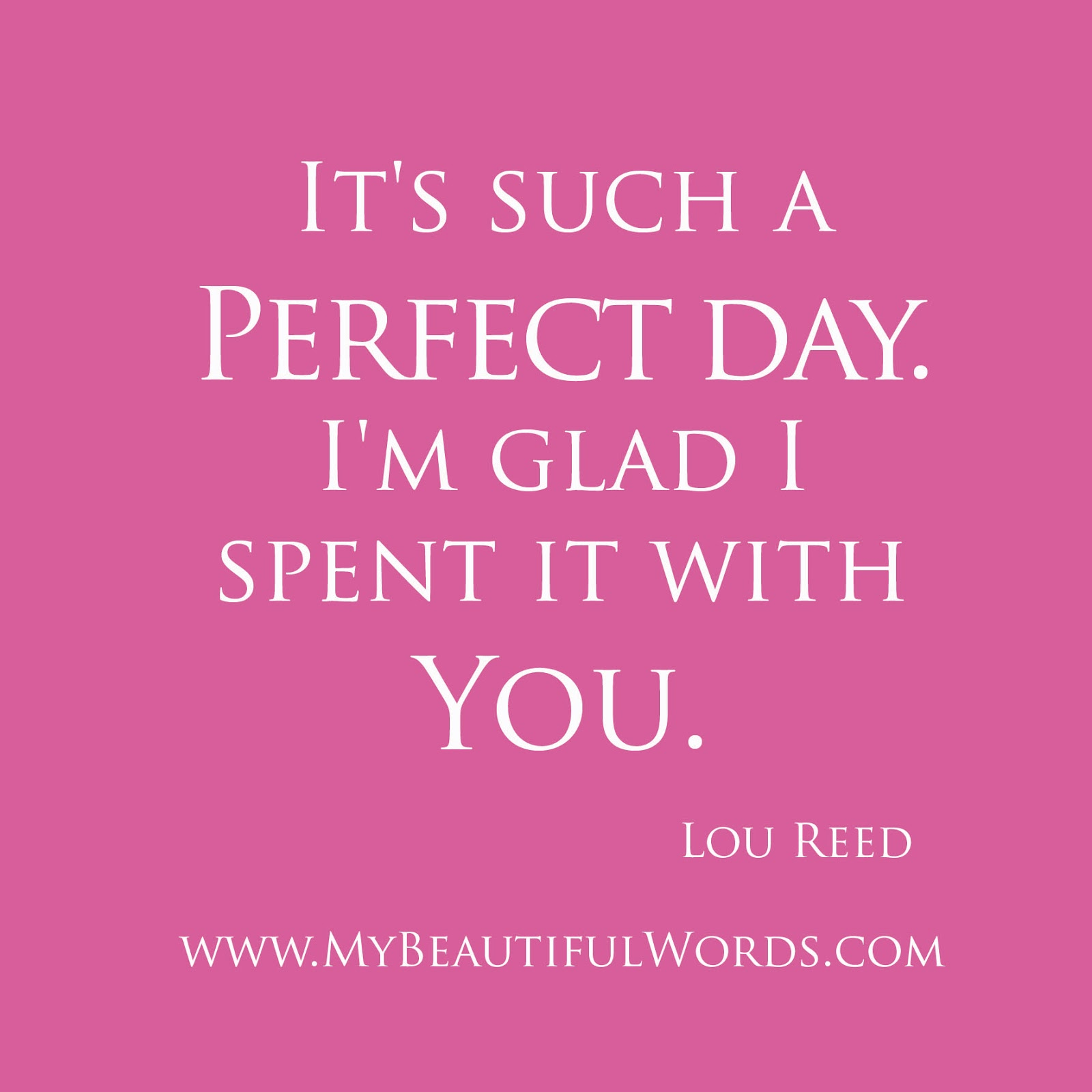 my perfect day A perfect day essaysthe definition of a perfect day could vary greatly among many different kinds of people, so for my own personal definition of a perfect day, i could not begin to define it with just a few words.
