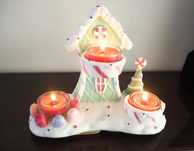 Yankee Candle Sugarplum Village Tea Light Holder | Katie Kirk Loves