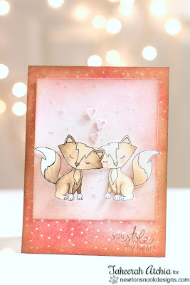 Sweet Fox Valentine Card by Taheerah Atchia | Sweetheart Tails Stamp set by Newton's Nook Designs