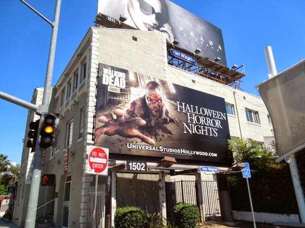 Halloween Horror Nights billboard Sunset Strip