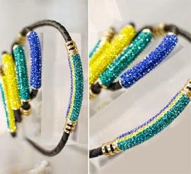 pulseiras cores bandeira Brasil Copa do Mundo