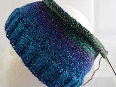 hat knit with Yarn Bee Dazzling Tropics  https://www.etsy.com/shop/JeannieGrayKnits