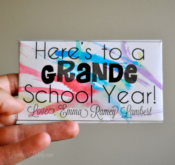 Great Starbucks gift card printable for a teacher back to school gift!