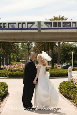 disney wedding, monorail