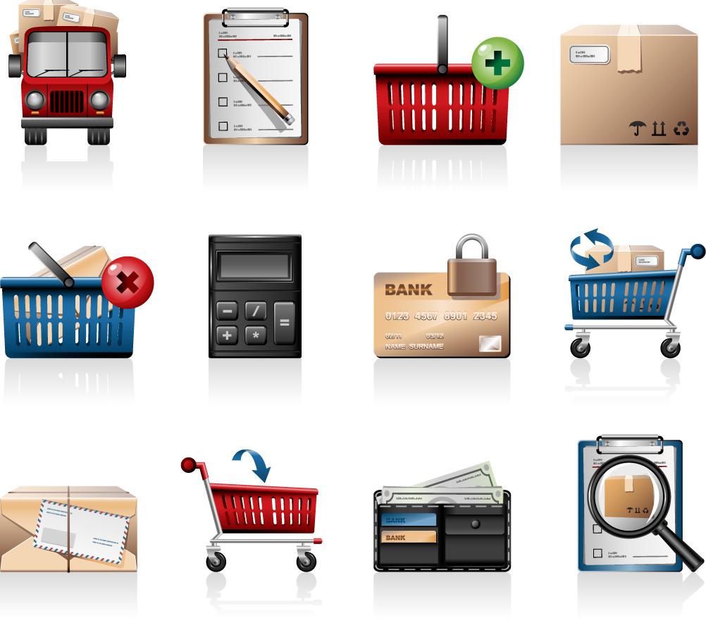 ネットショップ関連のアイコン  shopping cart icon イラスト素材