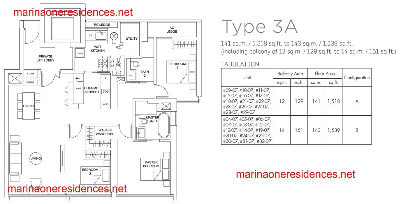 Type 3A Showflat unit