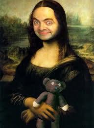 gambar gambar lucu monalisa mr bean
