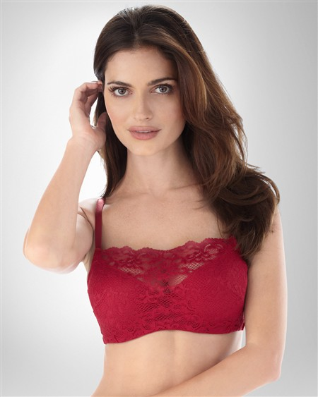 You'll love the support and modesty of this Comfort Camisole Bra. It features a stretchy lace panel for plenty of coverage under low-cut tops. Enjoy the comfort of soft contour cups, a wide back and no-roll knitted support band.2/5(4).