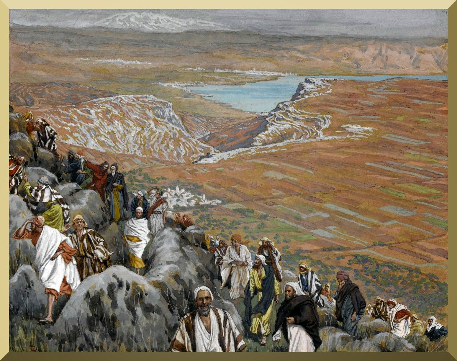 """The People Seek Jesus to Make Him King"" -- by James Tissot"
