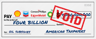 Voided subsidy check for Big Oil